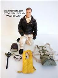 2. Weltkrieg USAAF Pilot 1:6 - 1:5